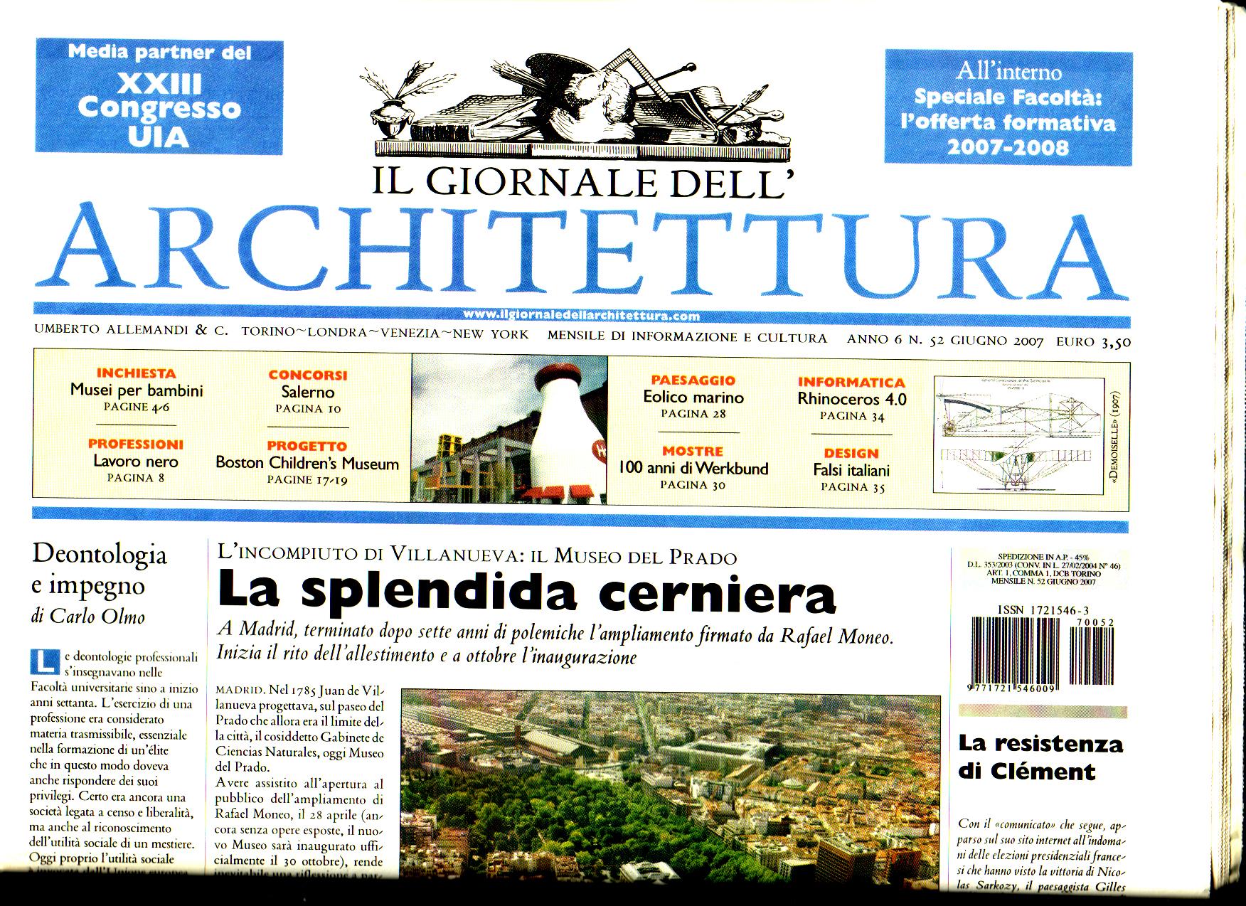 Il GIORNALE DELL'ARCHITETTURA N.52 2007